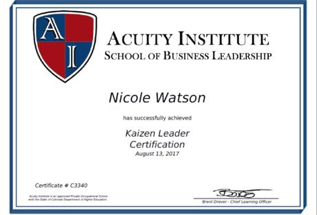 Nicole Certificate